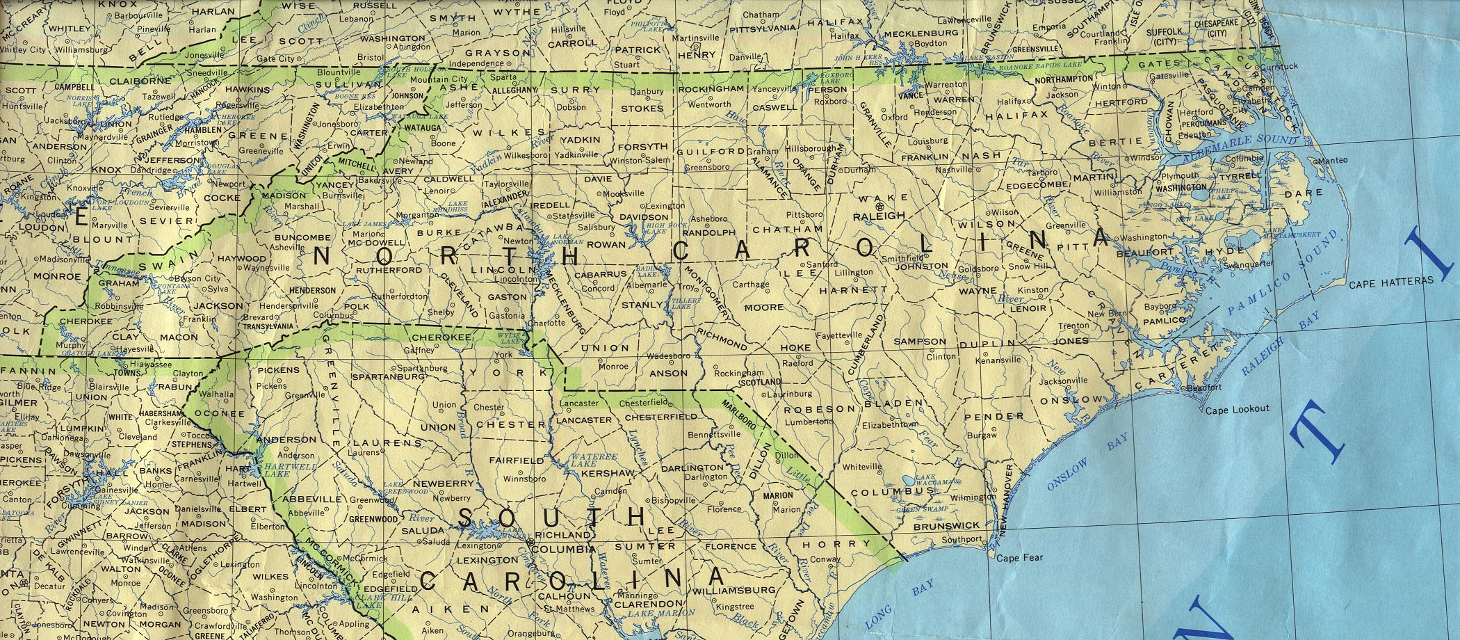 Map of North Carolina (Political Map : Weltkarte.com ...