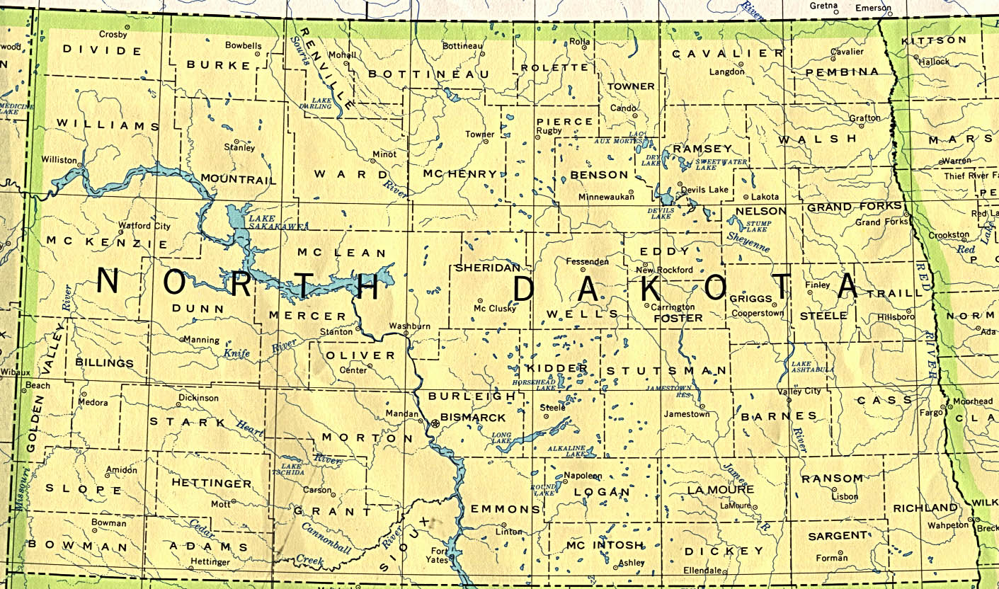 Map of North Dakota (Political Map) : Worldofmaps.net ...