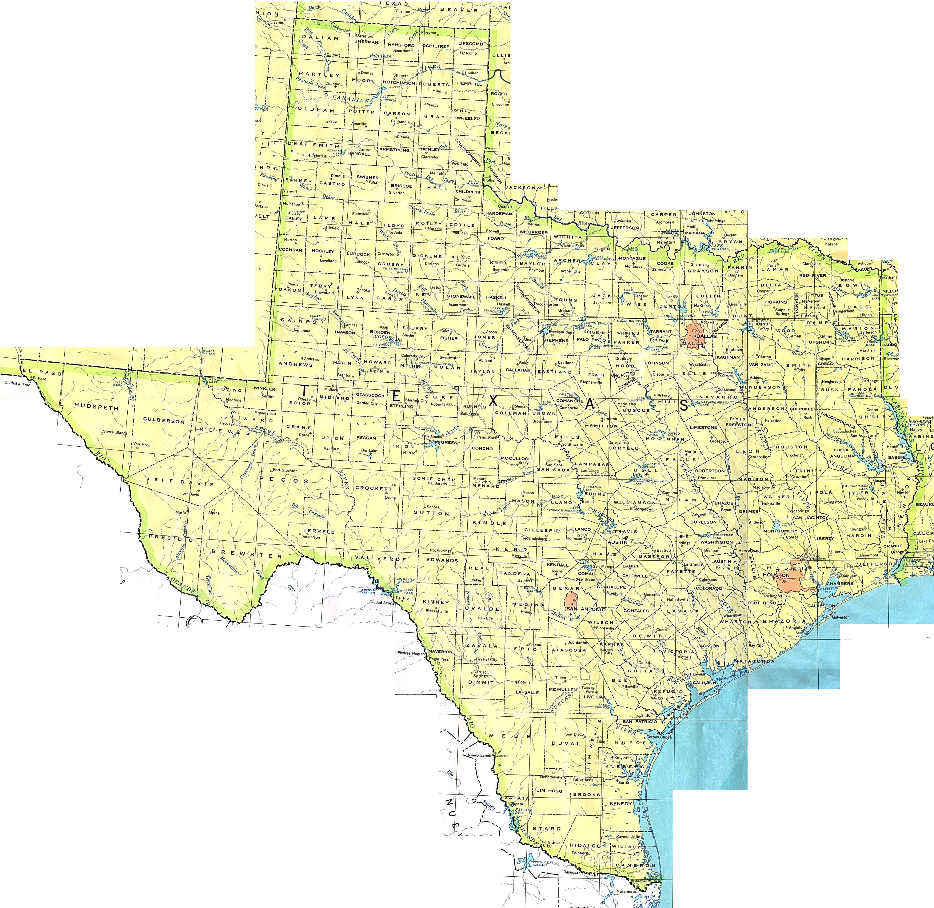 Map of Texas (Political Map) : Worldofmaps.net - online Maps ...