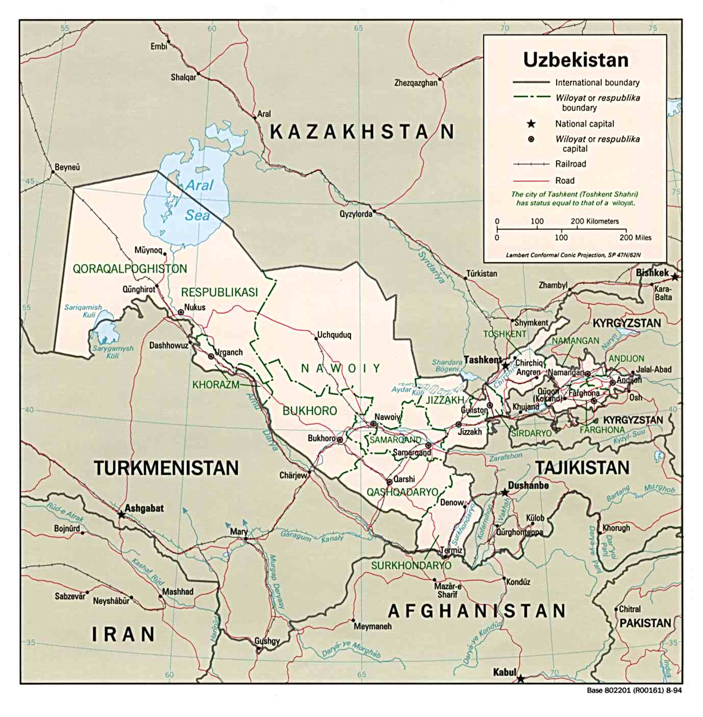 Map Of Uzbekistan Political Map Worldofmaps Net Online Maps