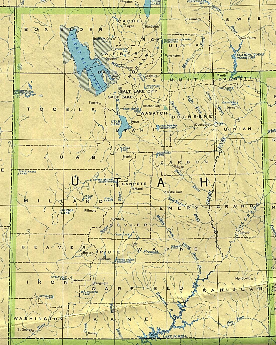 Map of Utah (Political Map) : Worldofmaps.net - online Maps ...