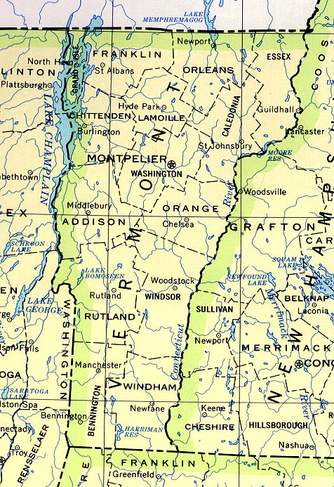 Map of Vermont (Political Map) : Worldofmaps.net - online ...