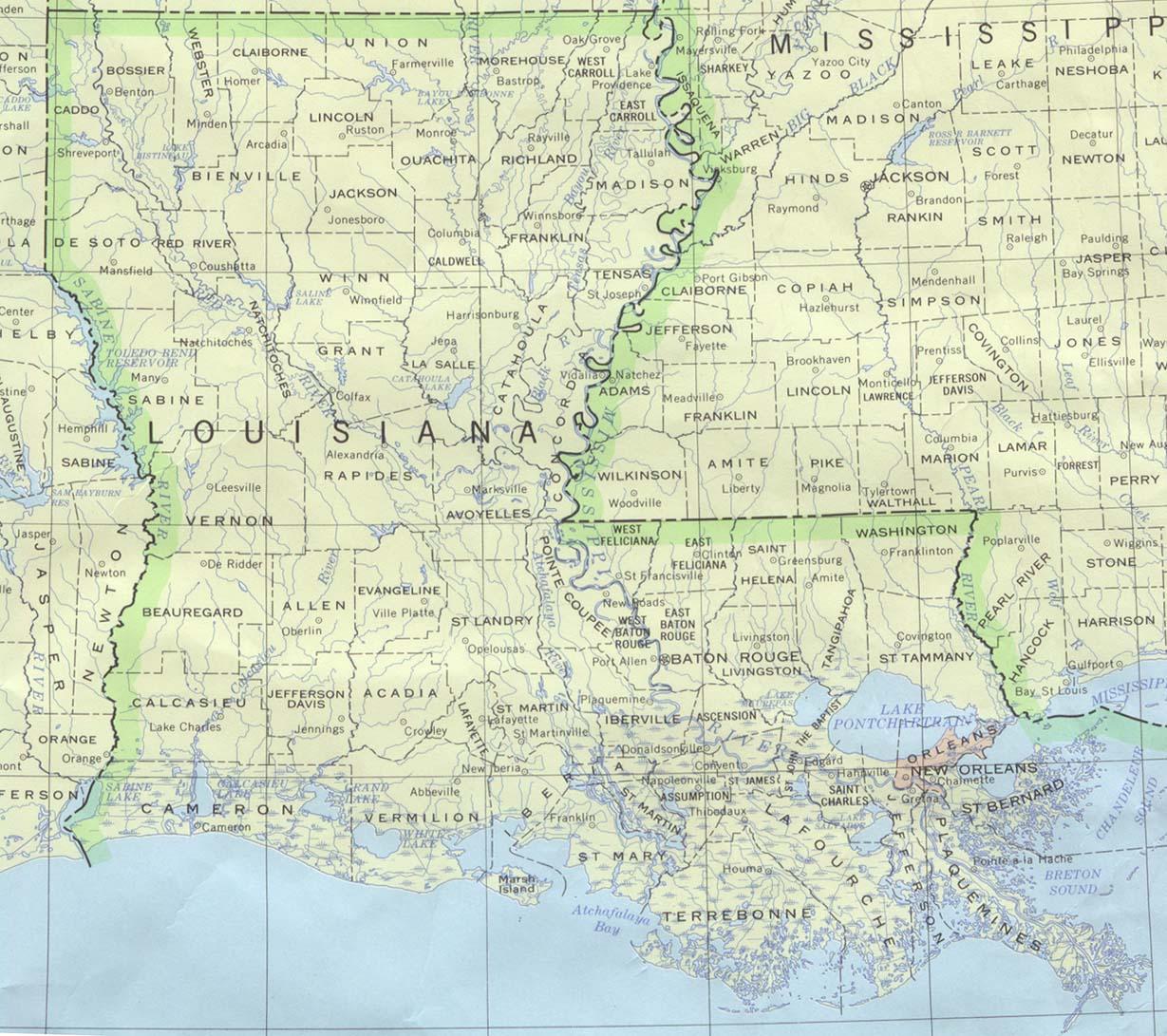 Map of Louisiana (Political Map) : Weltkarte.com - Karten ...