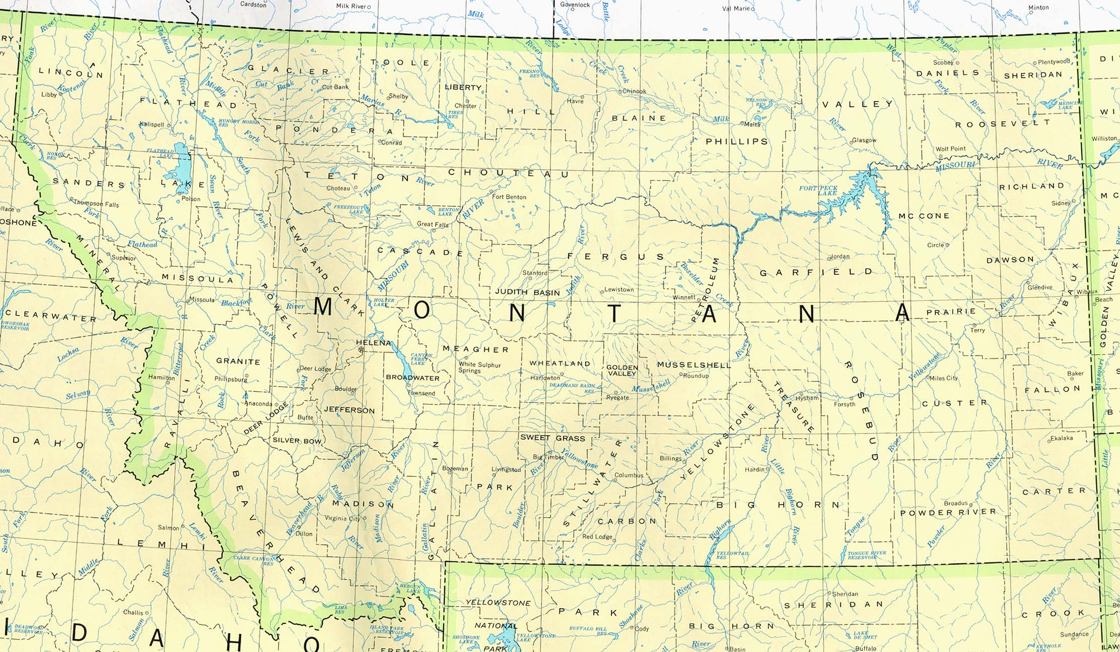 Map of Montana (Political Map) : Worldofmaps.net - online ...