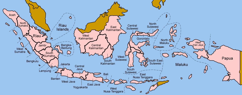 Map of Indonesia (Provinces) : Weltkarte.com - Karten und ...