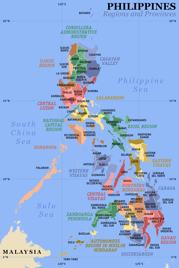 Map Of The Philippines Download Maps of the Philippines (Regions and Provinces) : Worldofmaps.