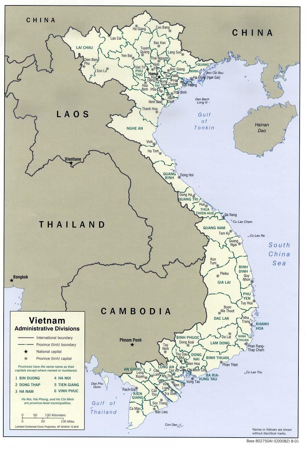 Map of Vietnam (Provinces) : Worldofmaps.net - online Maps ...