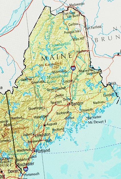 Map of Maine (Overview Map) : Worldofmaps.net - online Maps ...