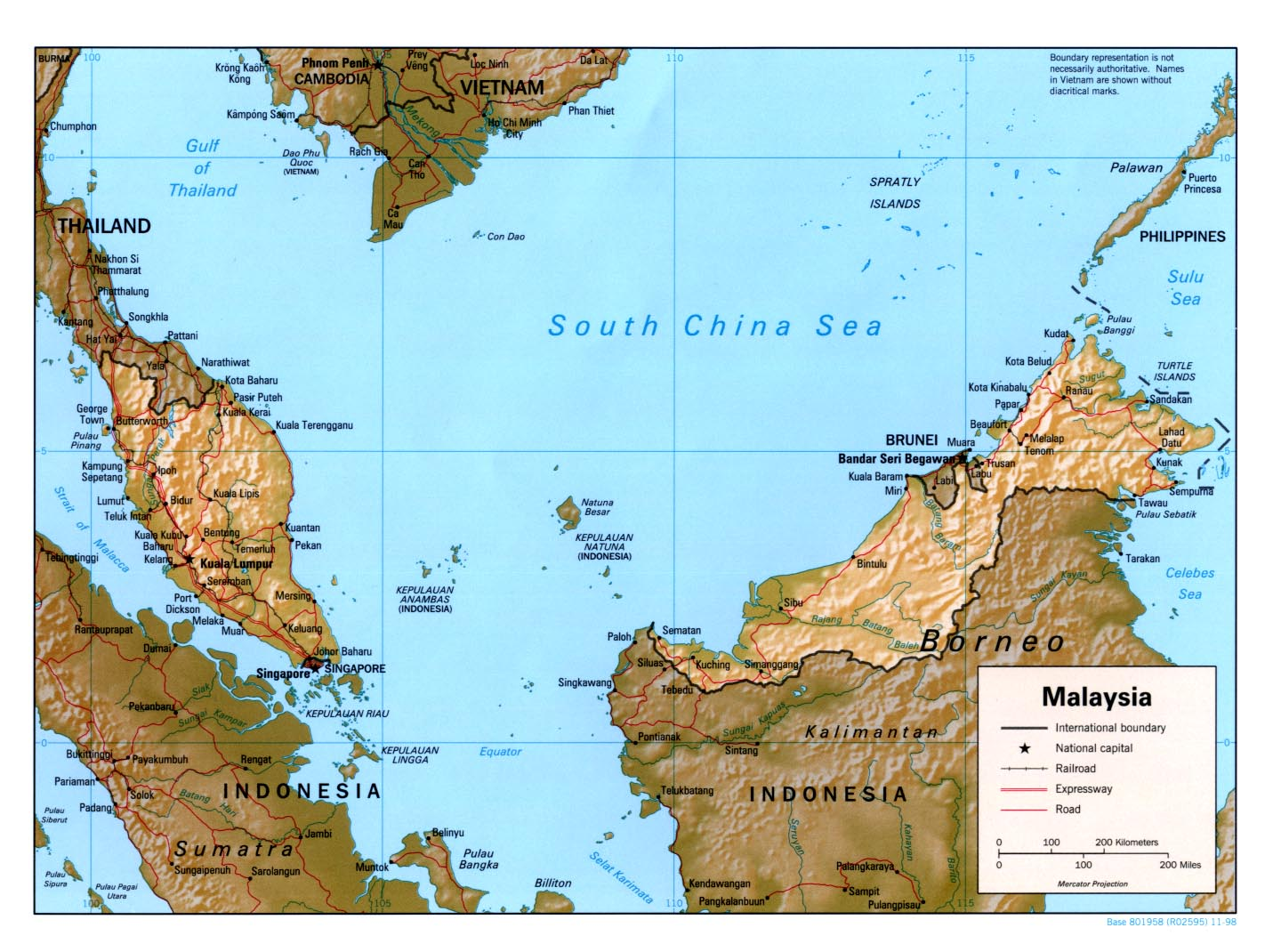 Map Of Malaysia Relief Map Worldofmaps Net Online Maps And