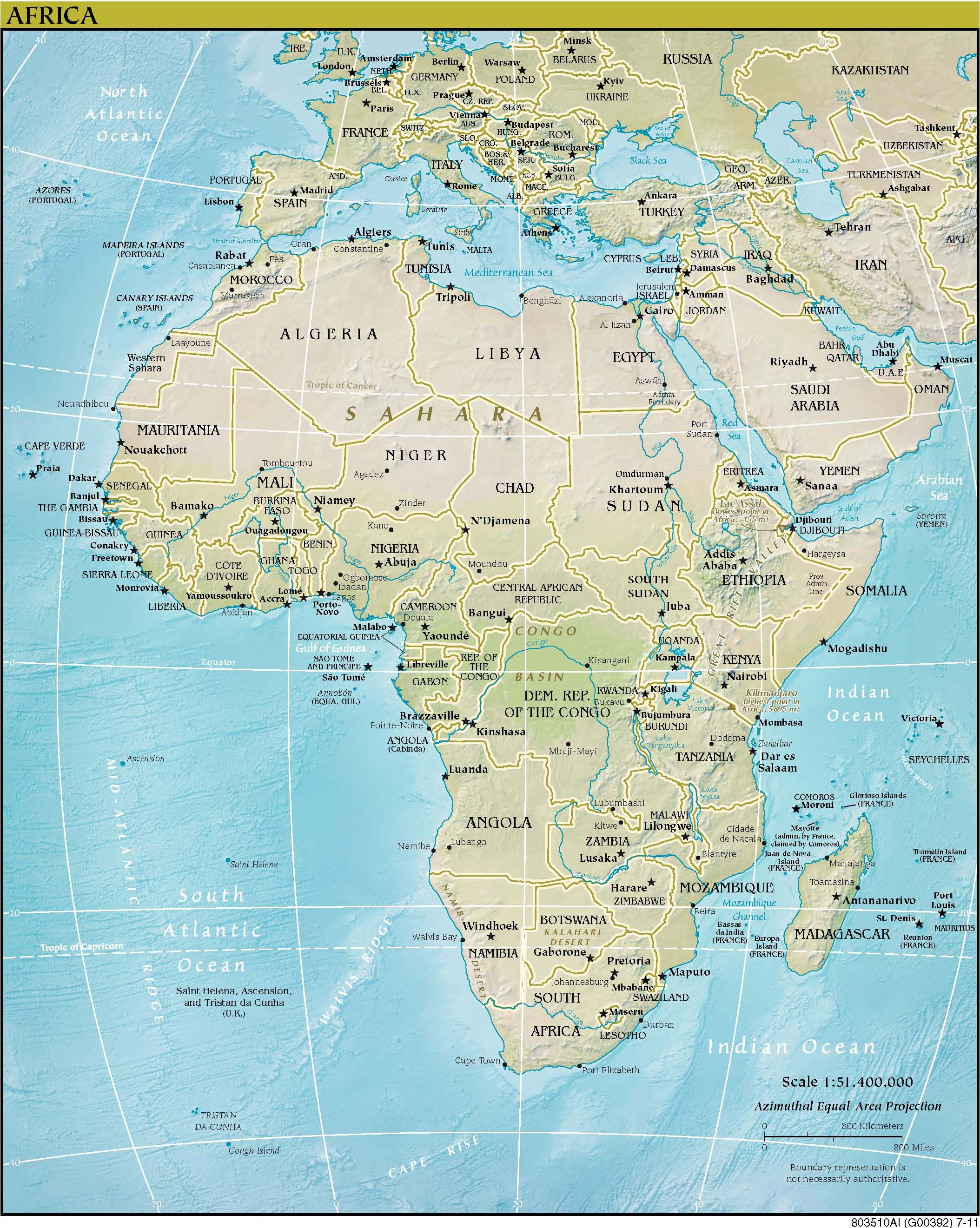 Map of Africa (political map) : Worldofmaps.net - online Maps and ...