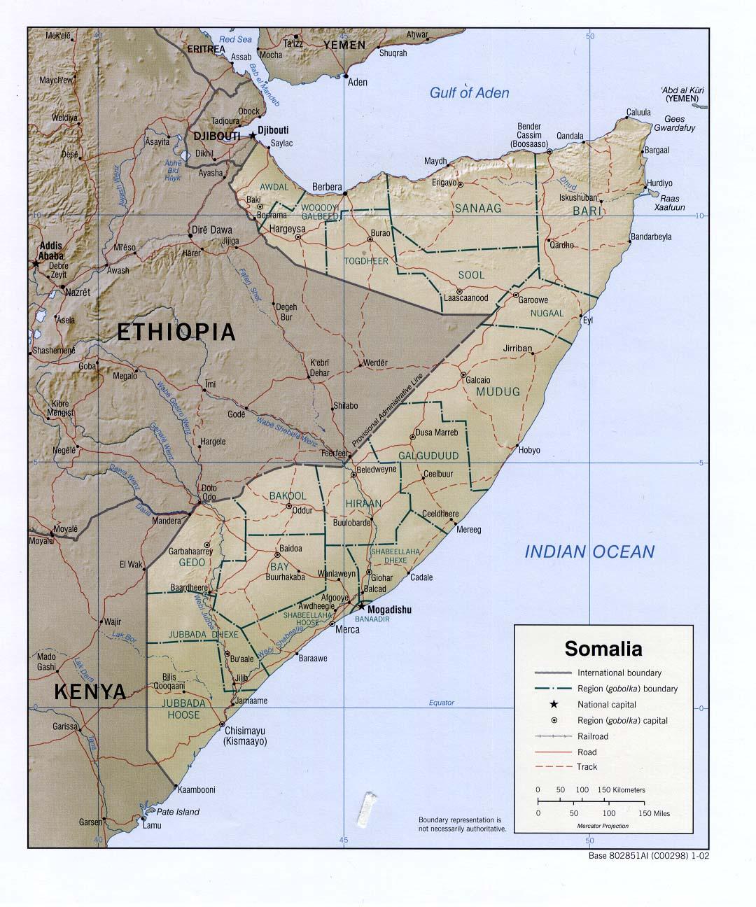 Map fo Somalia (Relief Map) : Worldofmaps.net - online Maps ...