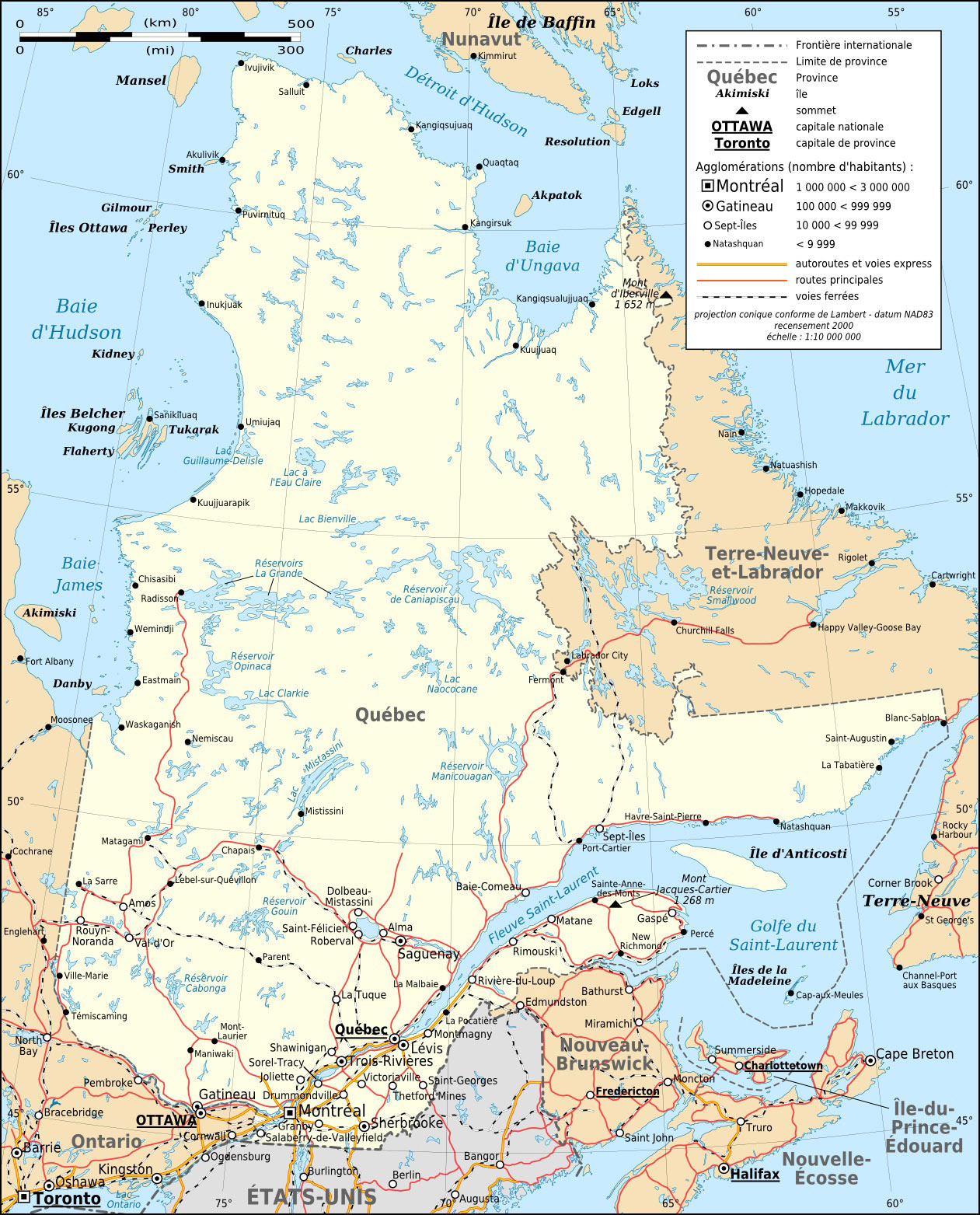Map Of Quebec Road Map Worldofmaps Net Online Maps And