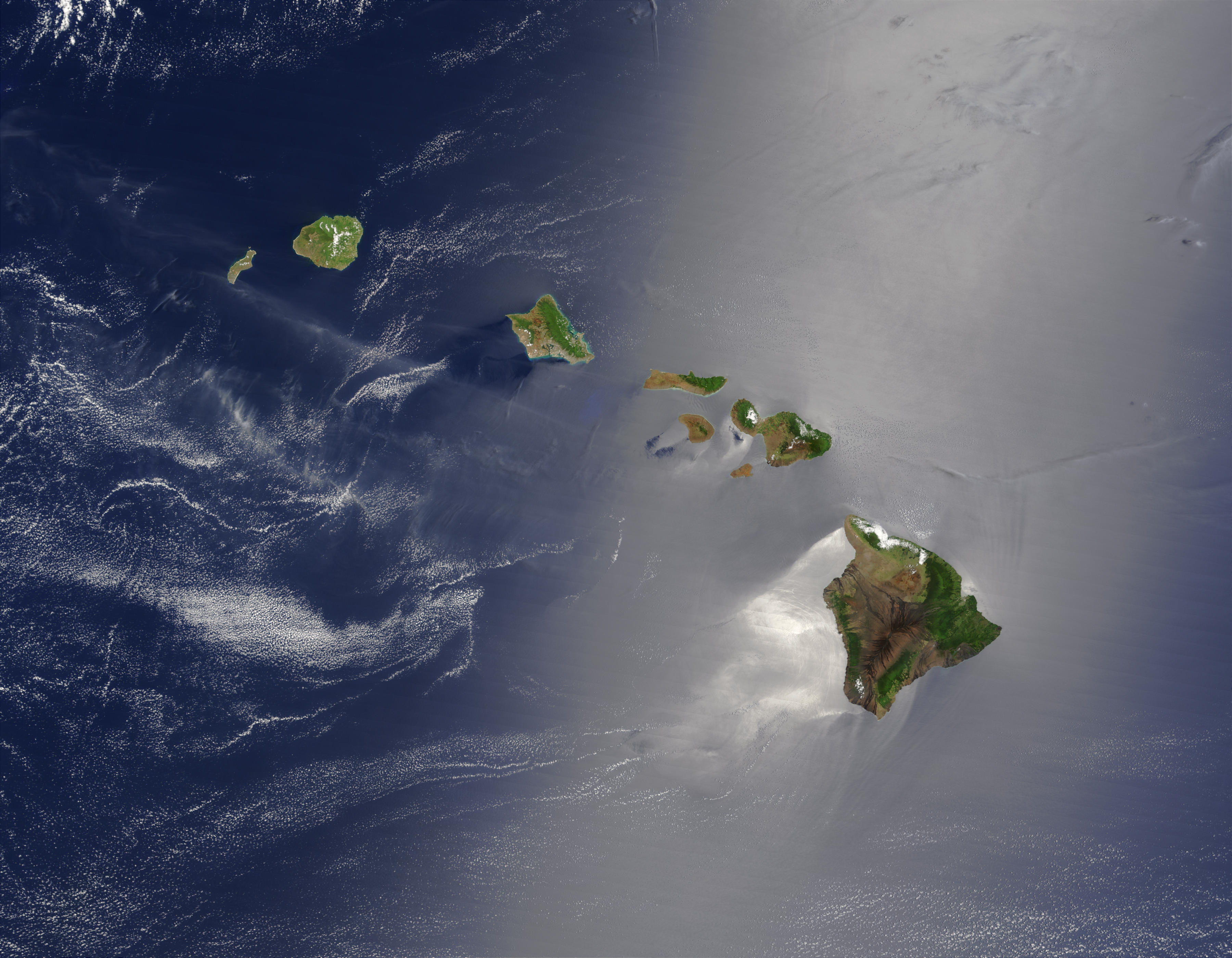 Map of Hawaii (Satellite Map) : Worldofmaps.net - online ...