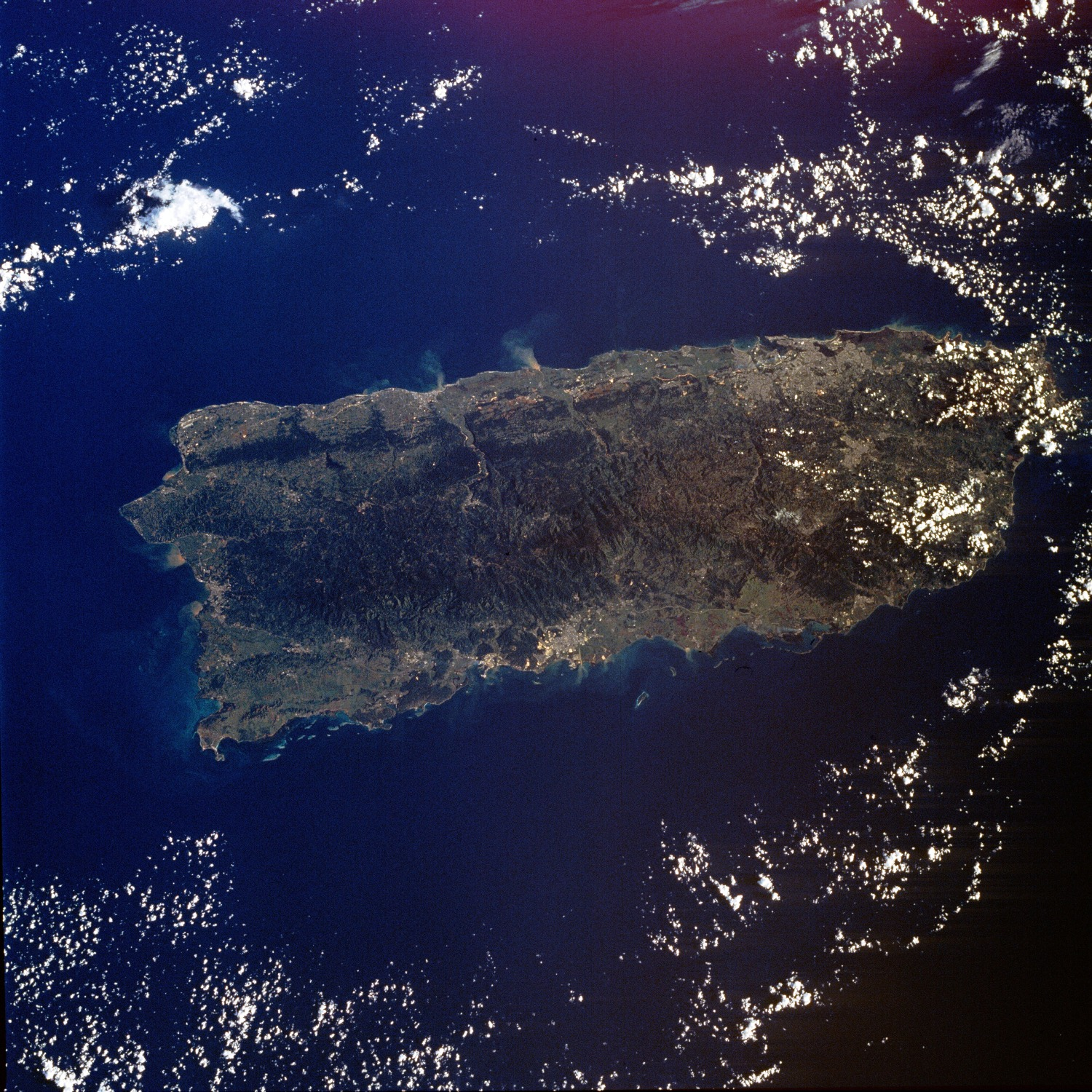 Map of Puerto Rico (Satellite Map) : Worldofmaps net - online Maps