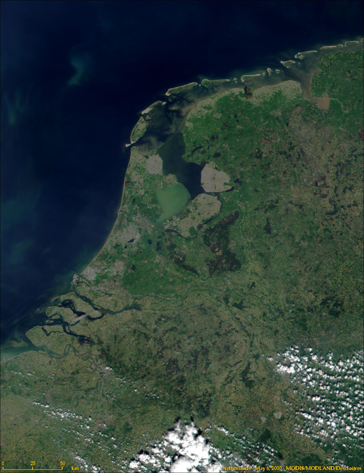 map of the netherlands satellite map
