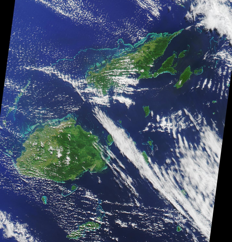 Map of Fiji (Satellite Map) : Weltkarte.com - Karten und ...