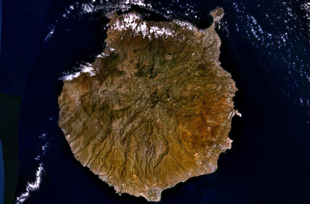Map Of Gran Canaria Island Satellite Map Weltkarte Com