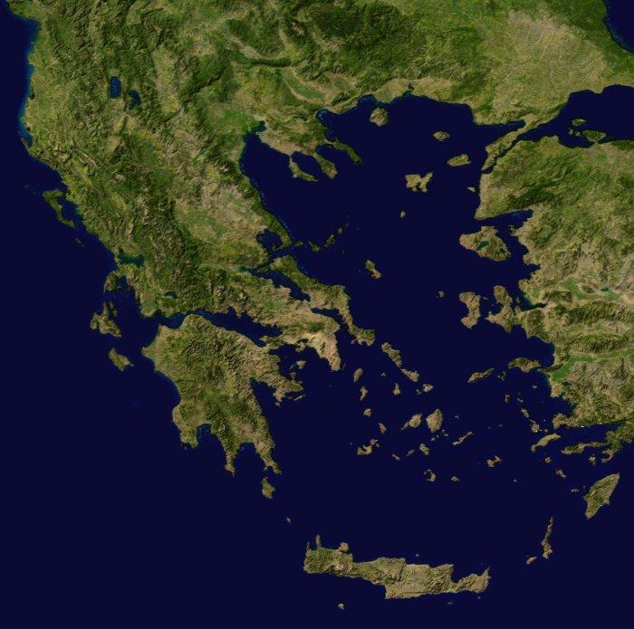 Map of Greece (Satellite Map) : Weltkarte.com - Karten und ... Tropical Grland Map on