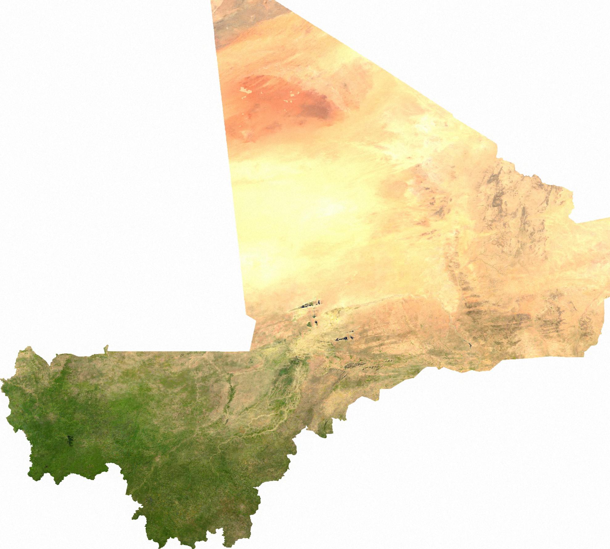 Map of Mali (Satellite Map) : Weltkarte.com - Karten und Stadtpläne ...