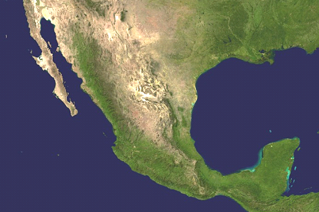 Map Of Mexico Satellite Map Worldofmapsnet Online Maps And - Satellite mexico map