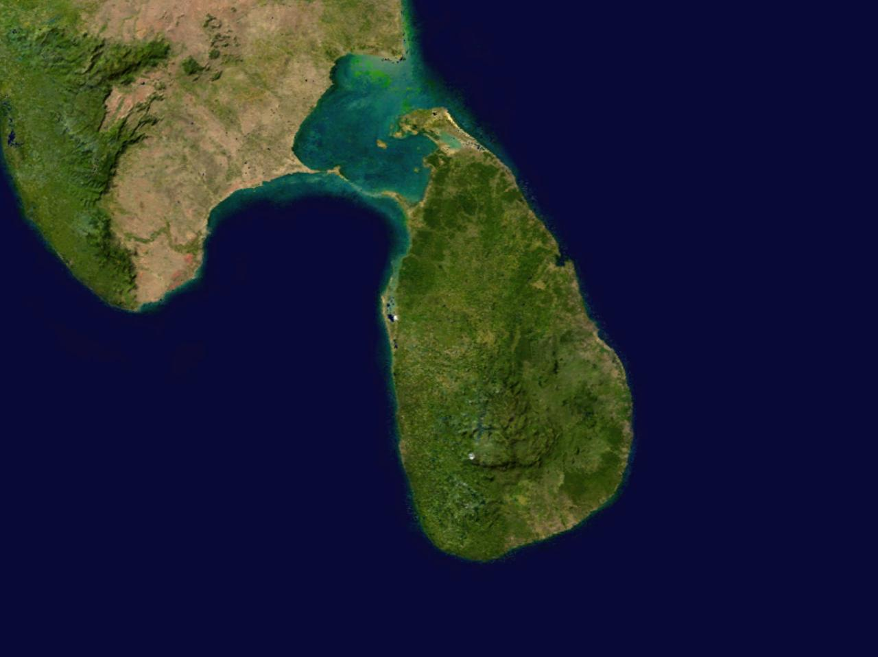 Map of Sri Lanka (Satellite Map) : Worldofmaps net - online Maps and