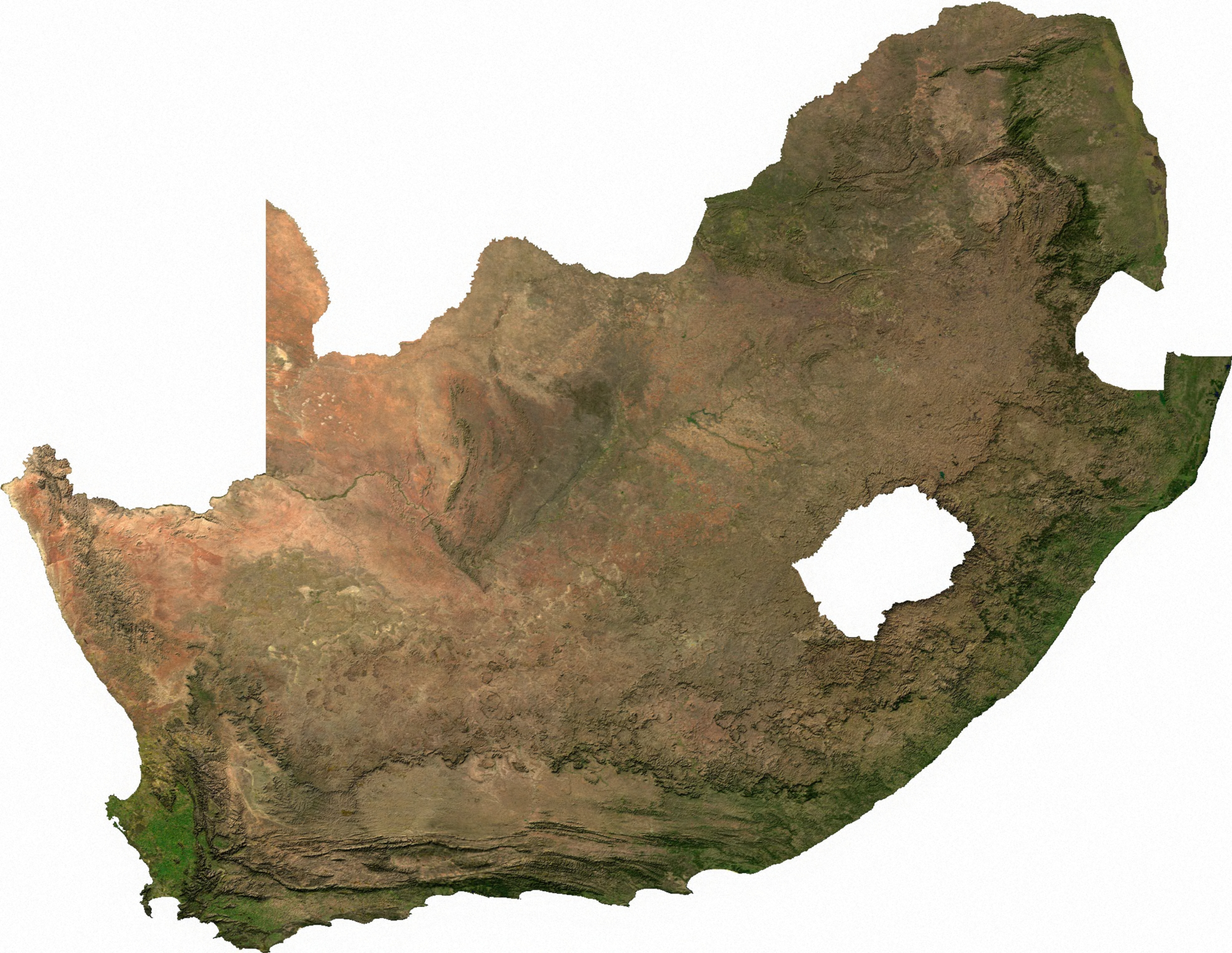 Map of South Africa (Satellite Map) : Worldofmaps.  online