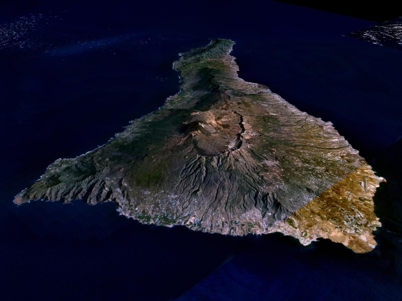 Map of Tenerife (Satellite Map) : Weltkarte.com - Karten und ...