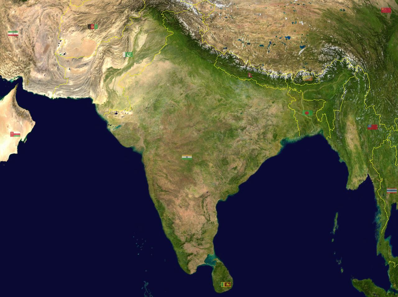 Map of India Satellite Map online Maps and Travel Infor