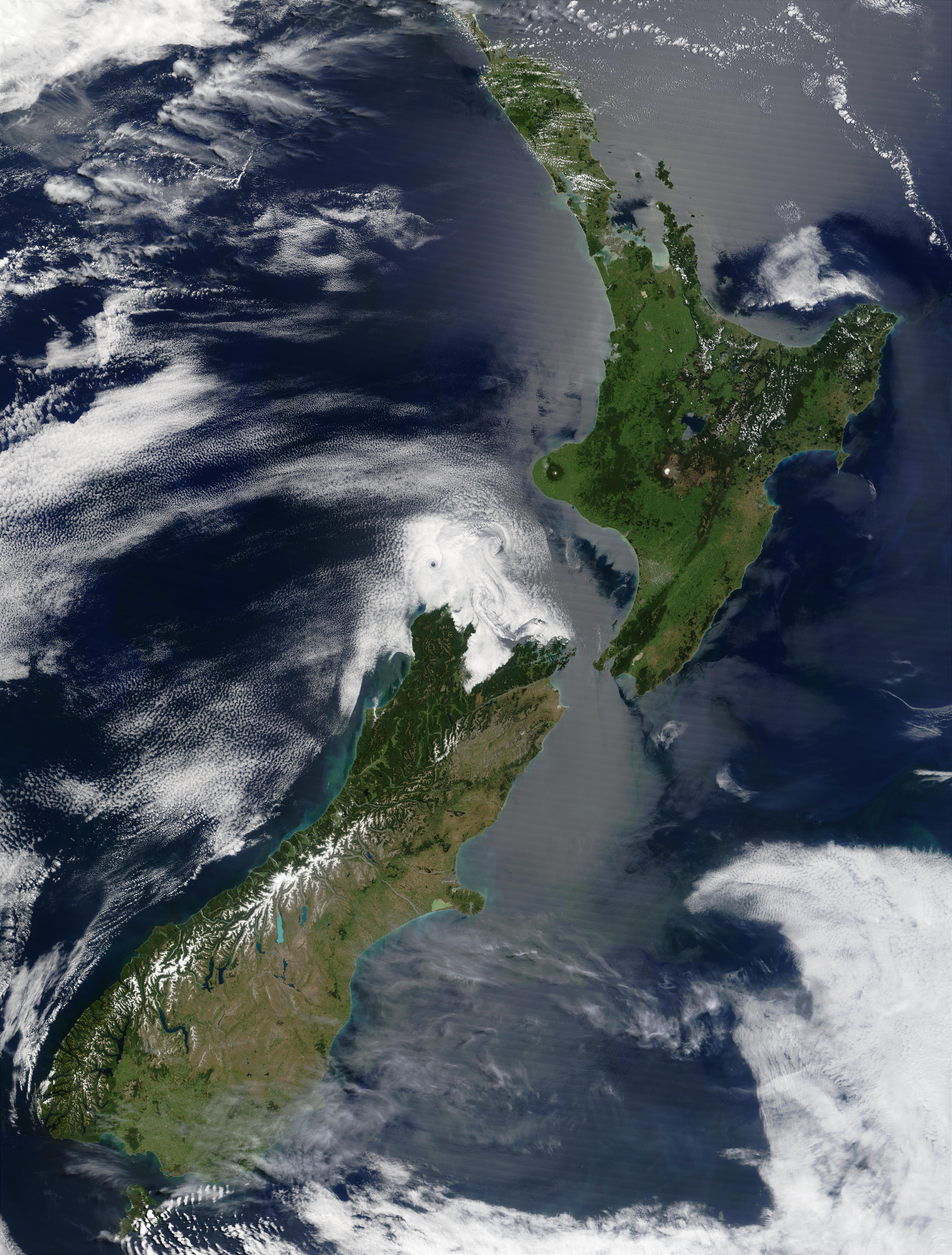 map of new zealand satellite map