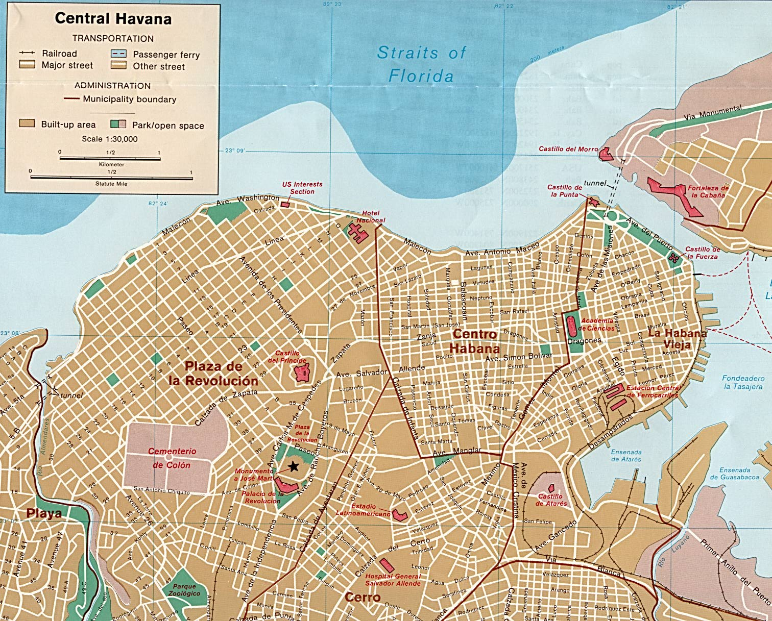 City Map Havana Worldofmaps Net Online Maps And Travel Information