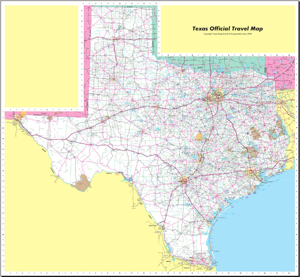 Map of Texas (Street Map) : Worldofmaps.net - online Maps and Travel ...