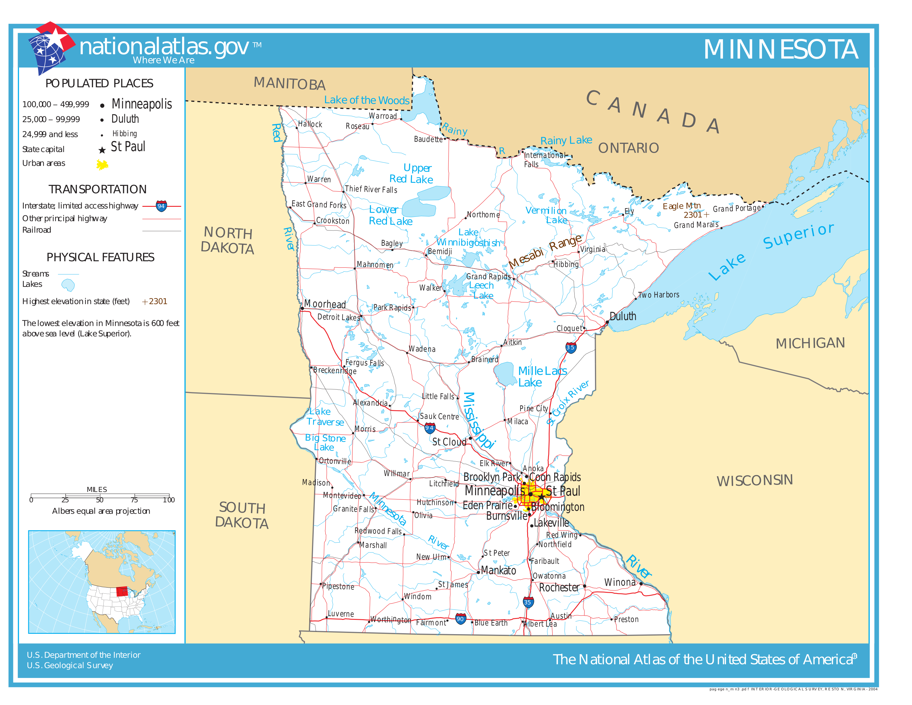 Map of Minnesota (Street Map) : Worldofmaps.net - online Maps and ...