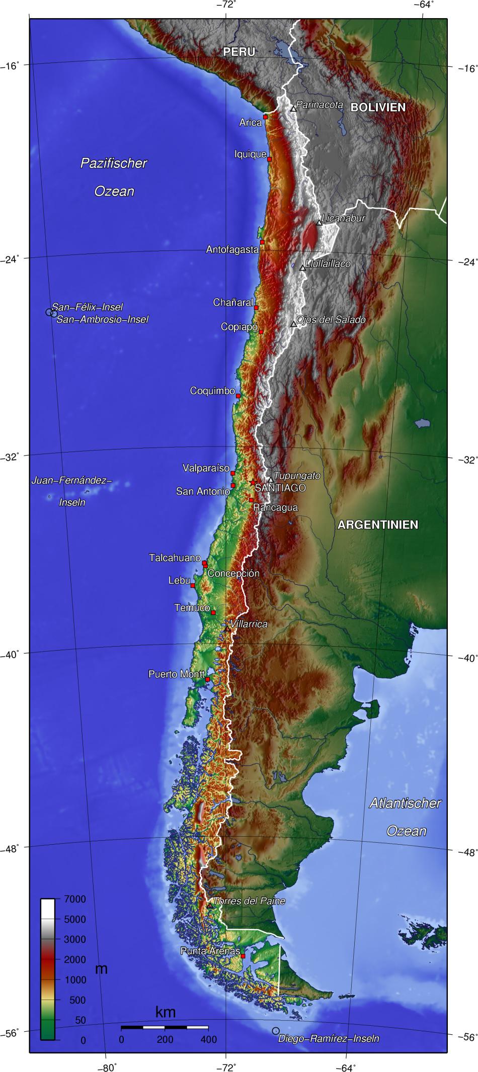 chile karte Chile chile karte