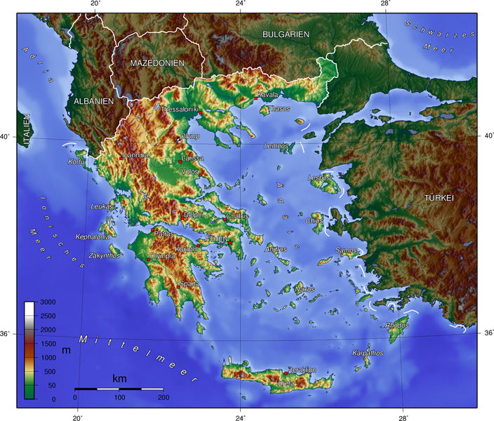 Map Regions in Greece