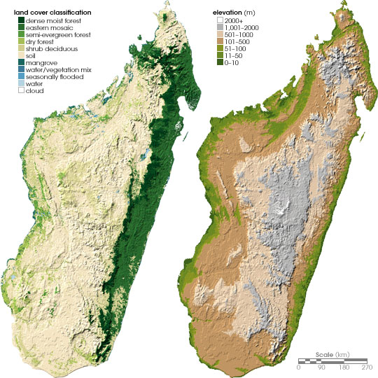 Map of Madagascar (Topographic Map) : Weltkarte.com - Karten ...
