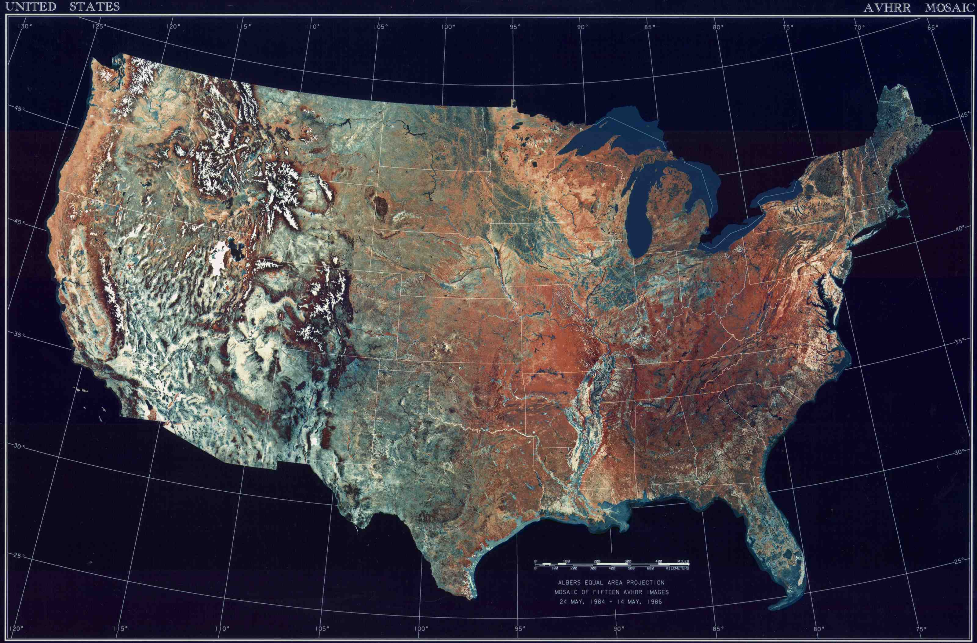 Map Of USA Satellite Map  Worldofmapsnet Online Maps And - Satellite map us