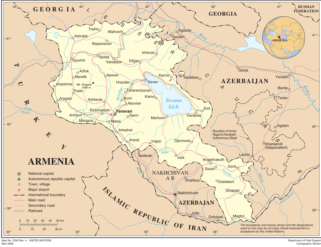Map of Armenia (Overview Map) : Weltkarte.com - Karten und ...