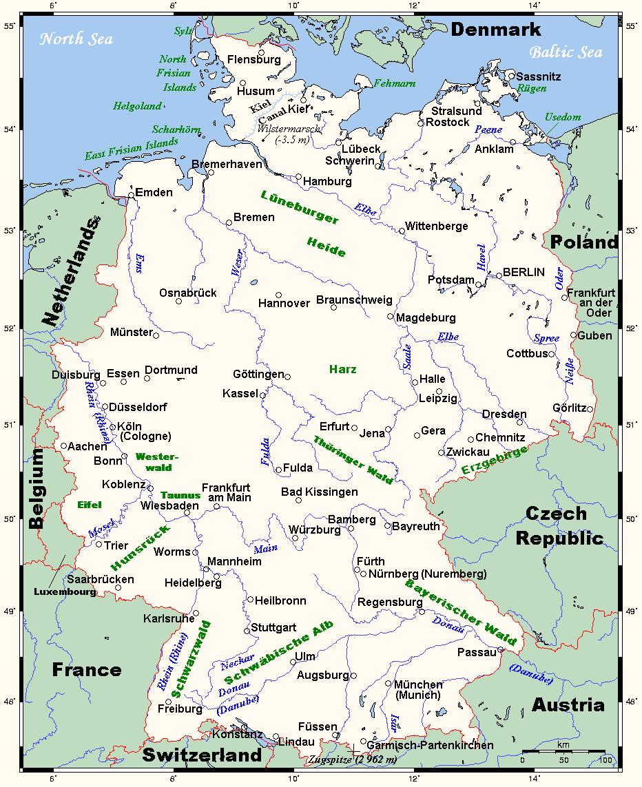 Map of Germany (Overview Map) : Weltkarte.com - Karten und ...