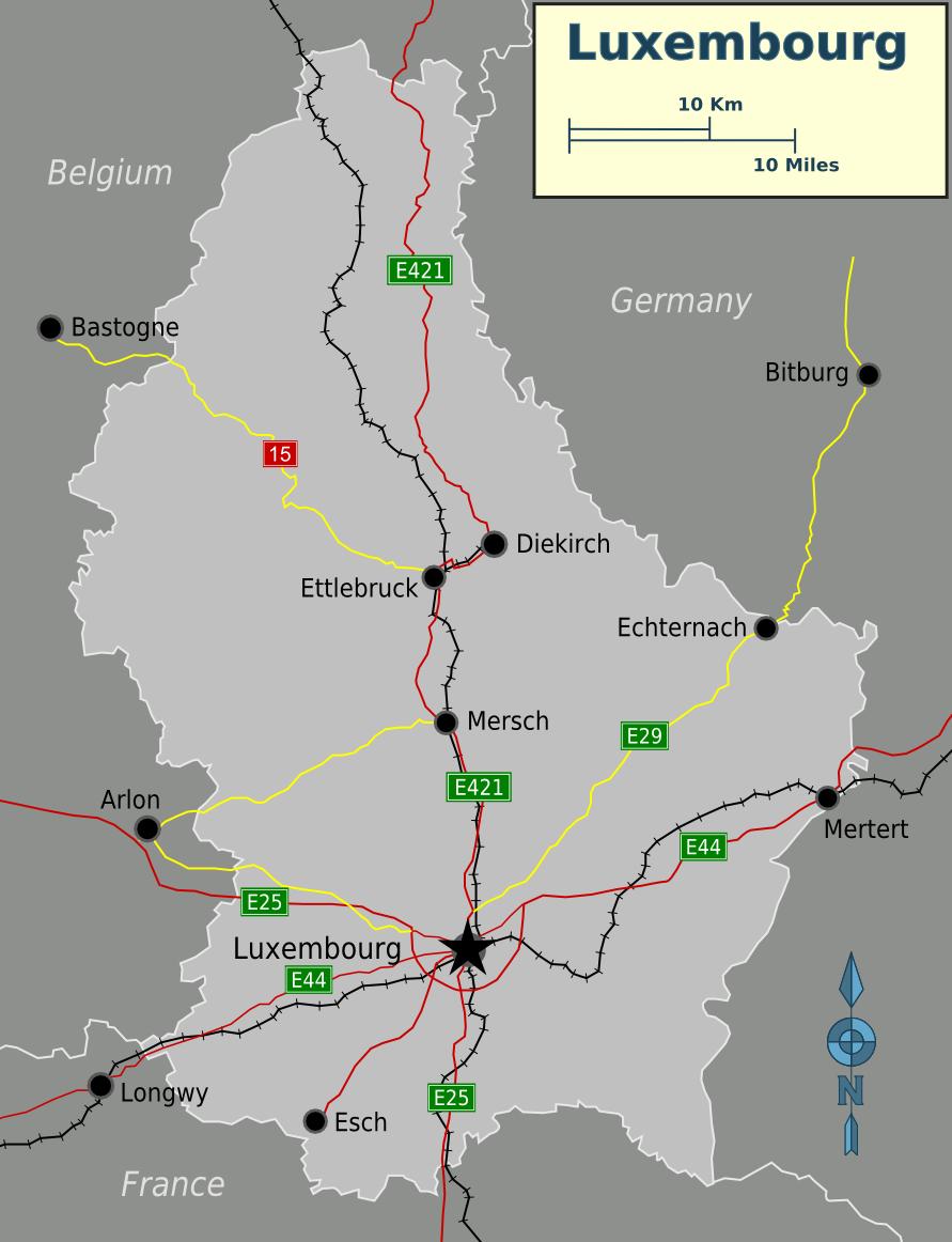 Map of Luxembourg (Overview Map) : Weltkarte.com - Karten und ...
