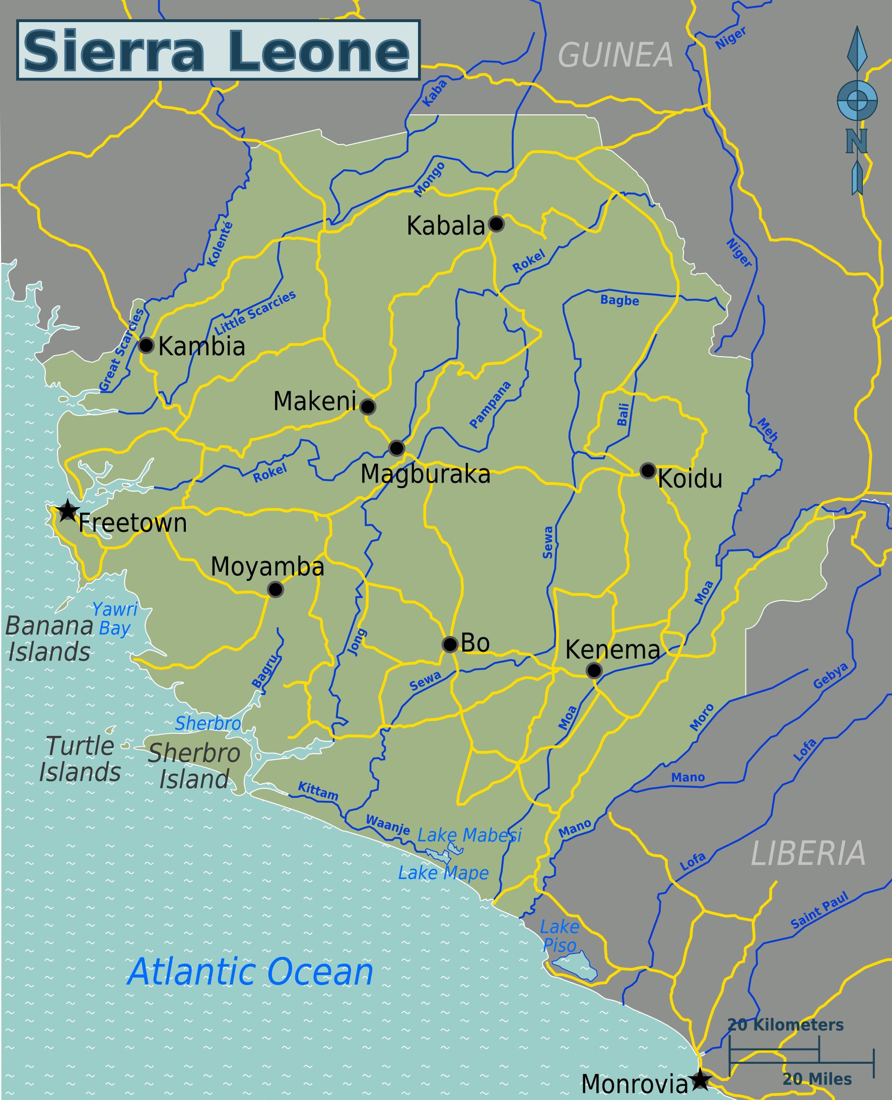 Map Of Sierra Leone Overview Map Worldofmapsnet Online Maps - Sierra leone map
