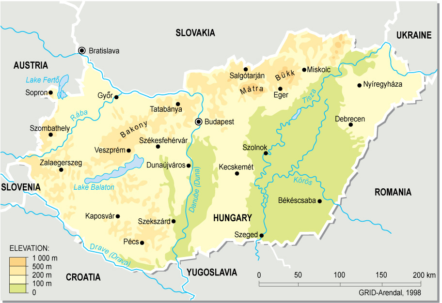 Map of Hungary (Overview Map) : Weltkarte.com - Karten und ...