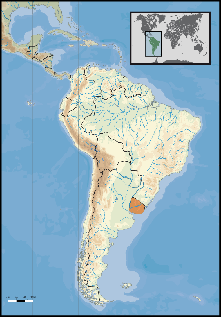 Uruguay Karte.Map Of Uruguay Location Within South America Worldofmaps Net