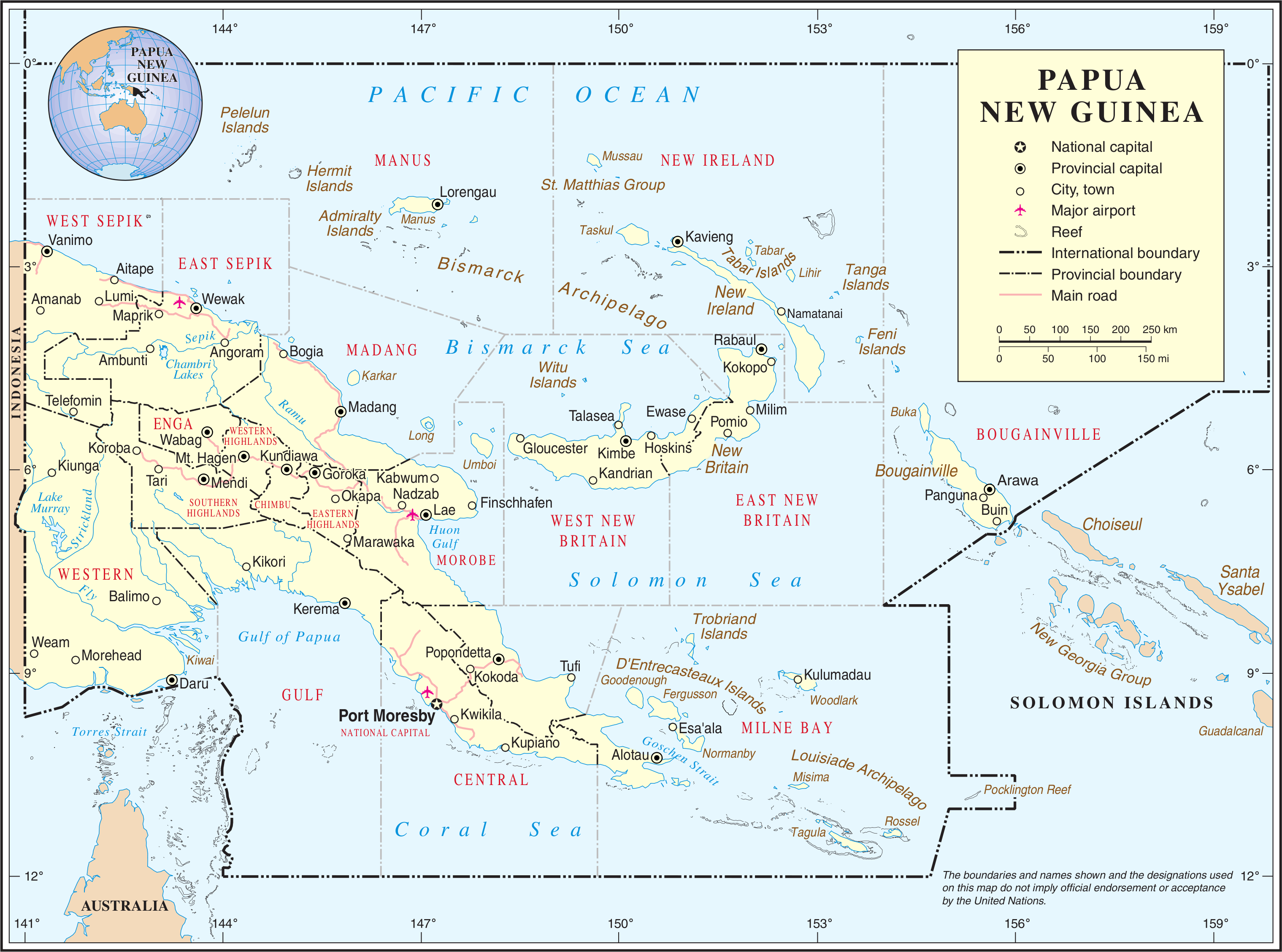 Map of Papua New Guinea (Overview Map) : Weltkarte.com ...