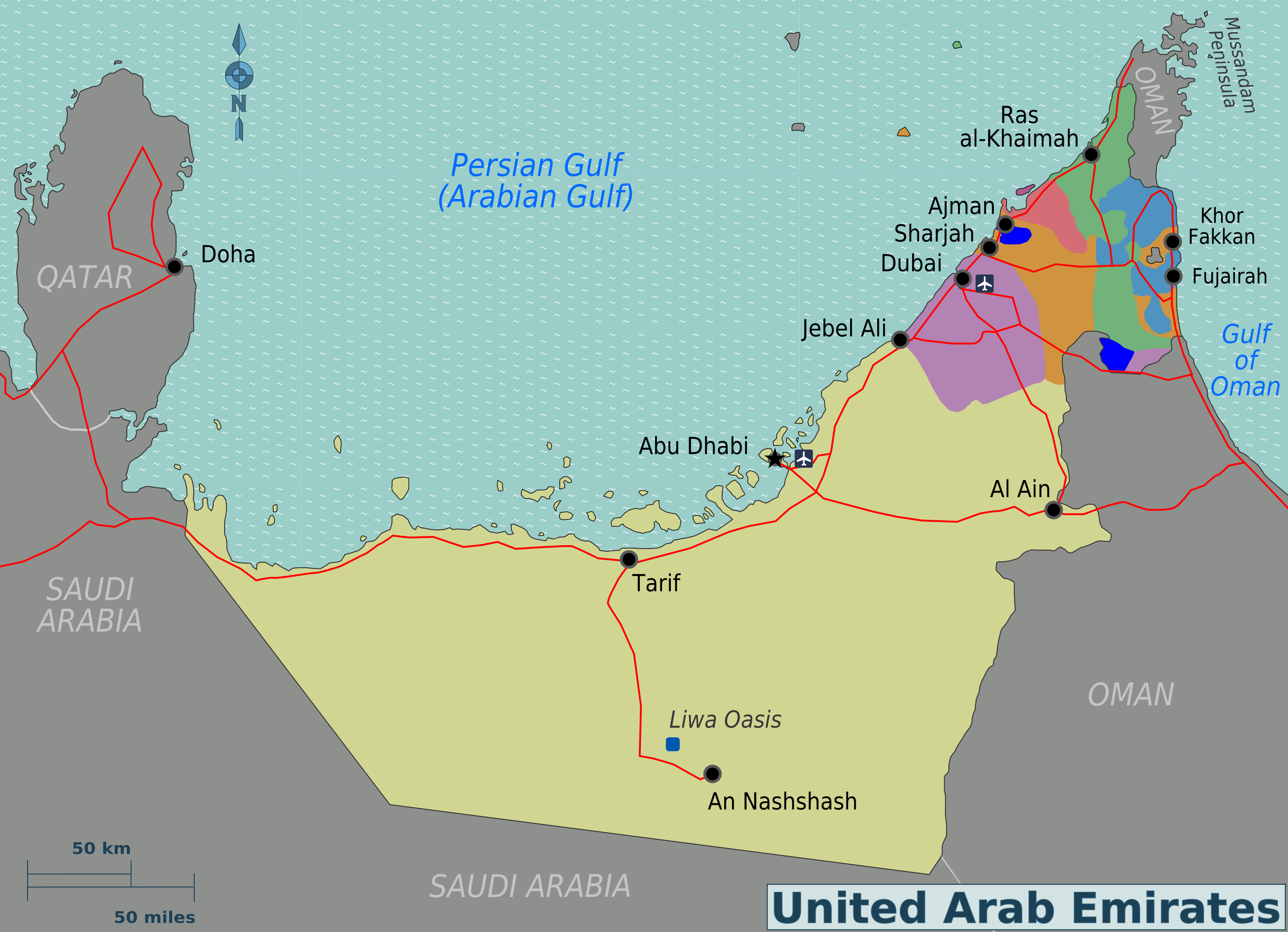 Map of United Arab Emirates (Overview Map/Regions ...