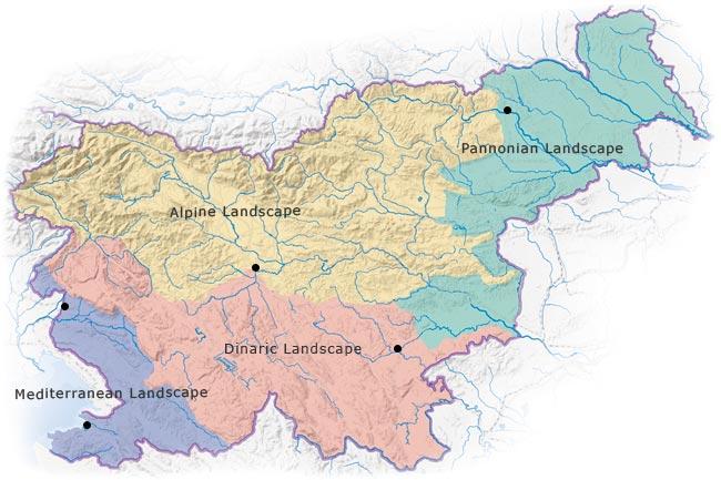 Map of Slovenia Administrative Divisions Worldofmapsnet